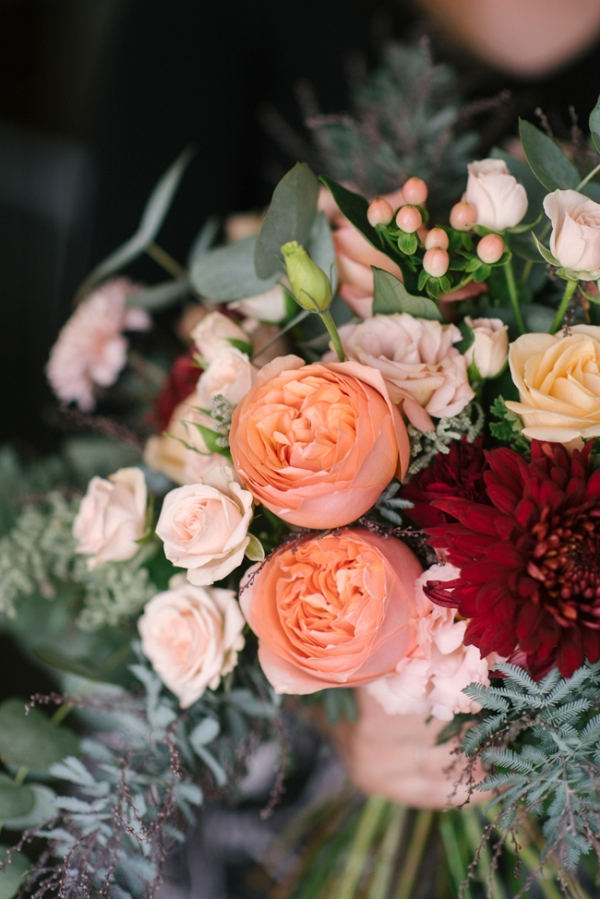An Organic Bridal Bouquet Recipe in Blush, Peach & Marsala