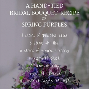 Hand Tied Purple Bridal Bouquet Recipe