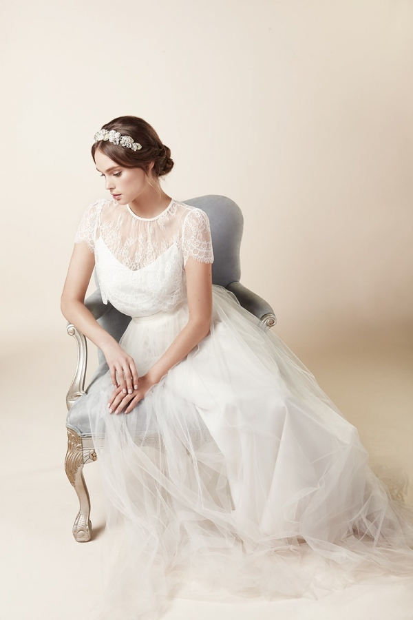 Timeless Silver Floral Bridal Hair Accessory from Elizabeth Bower