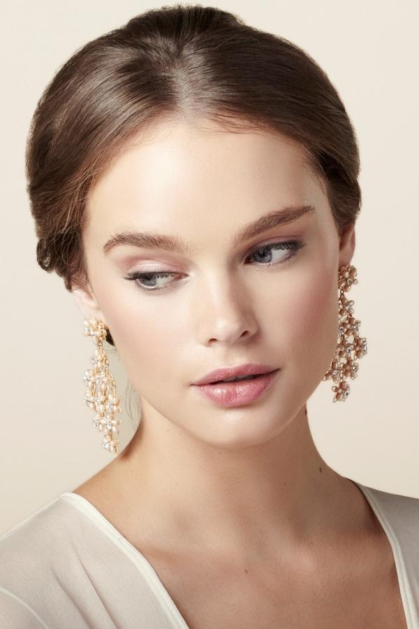 Cascade Chandalier Bridal Earrings from Elizabeth Bower