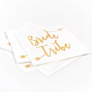 Bride Tribe Temporary Bridal Shower Tattoos