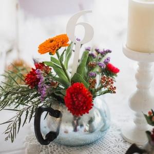 Vintage Floral Wedding Centerpiece