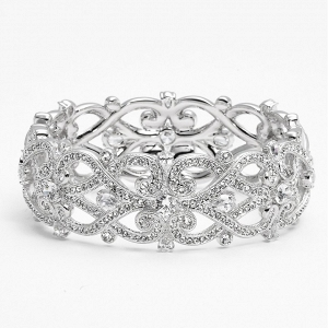 'Celtic Knot' Crystal Bridal Bracelet