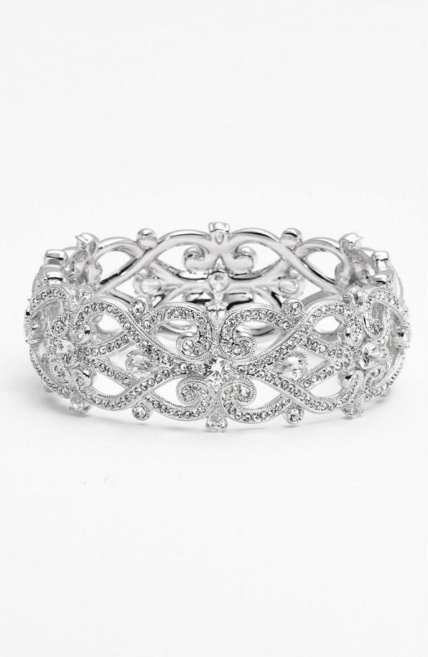 'Celtic Knot' Crystal Bridal Bracelet