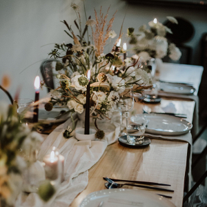 Indie Wedding Tablescape