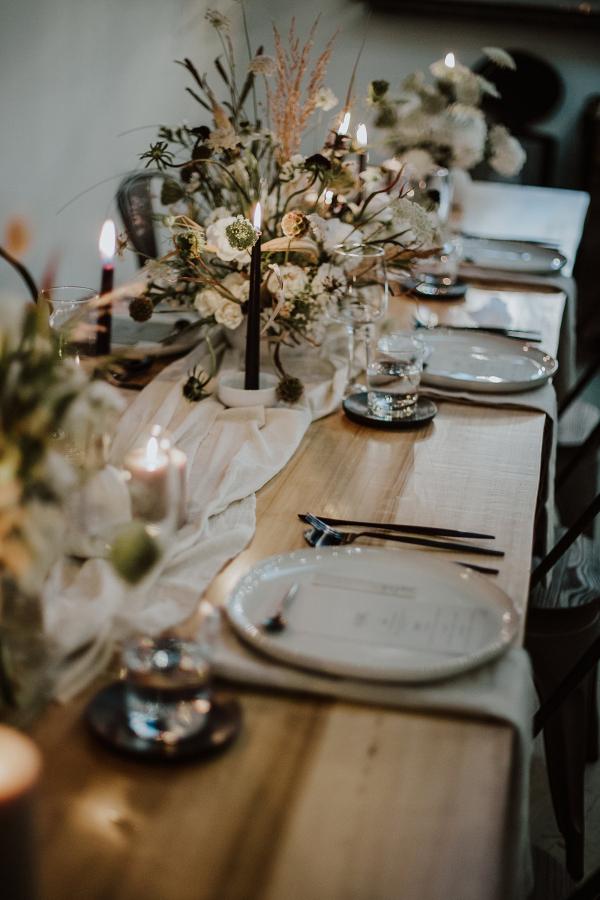 Indie Wedding Tablescape