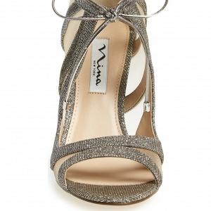 Nina 'Cherie' Illusion Sandal Silver Front