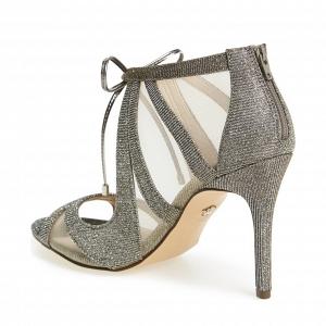 Nina 'Cherie' Illusion Sandal Silver Back