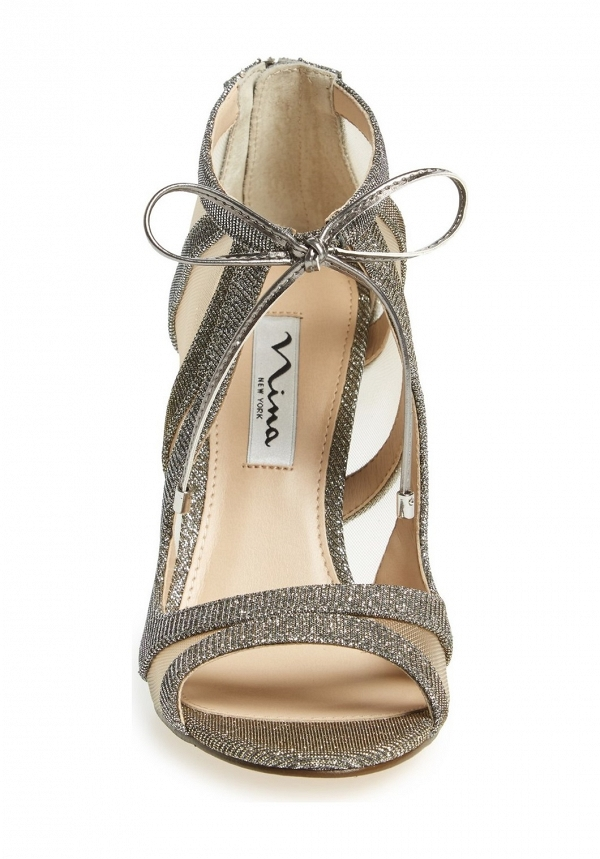 Nina 'Cherie' Illusion Sandal Silver Front