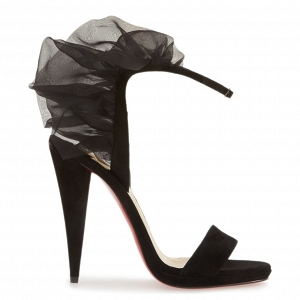 Christian Louboutin 'Jacqueline' Sandal Black Side Profile