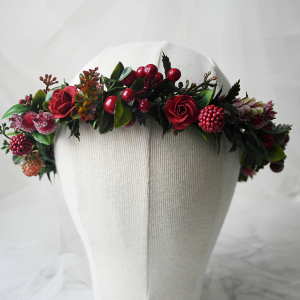 Christmas Wedding Flower Crown