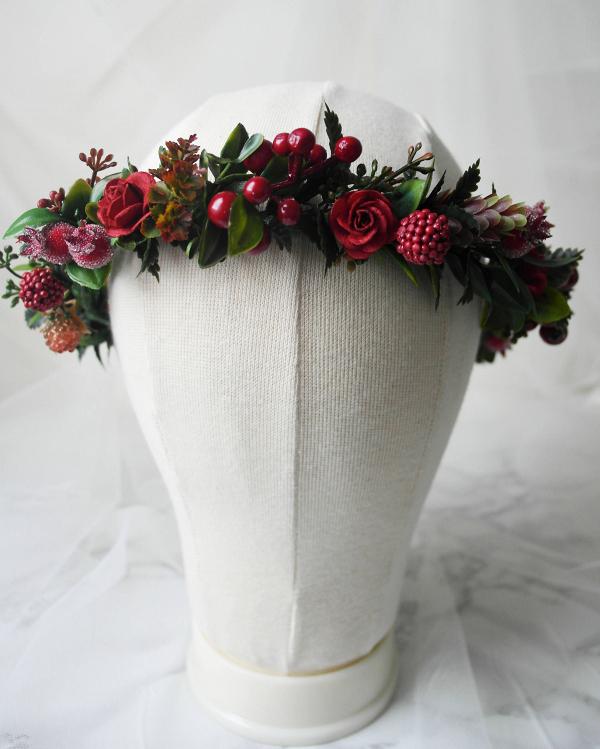 Christmas Wedding Flower Crown