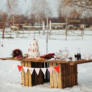 Holiday Wedding Dessert Table