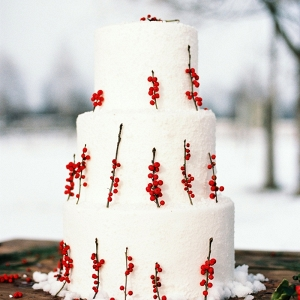 Holiday Season Wedding Cake