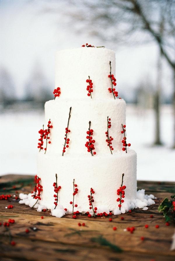 Holiday Season Wedding Cake