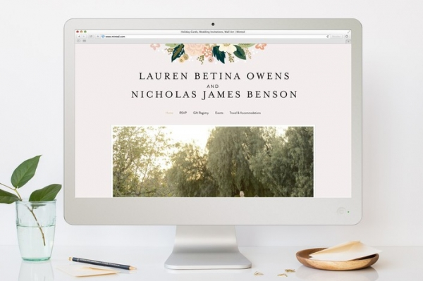 Classic Floral Wedding Website