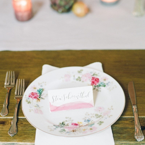 Rustic Vintage Wedding Place Setting