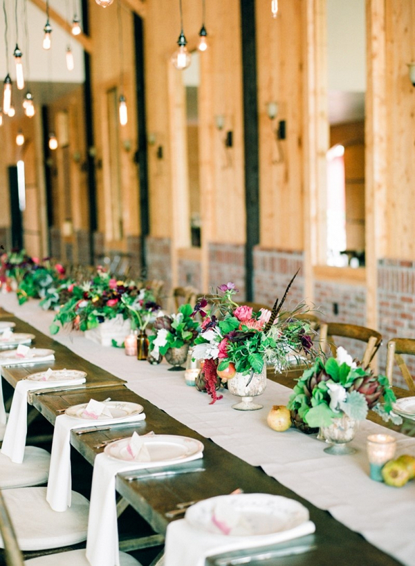 Rustic Vintage Wedding Tablescape