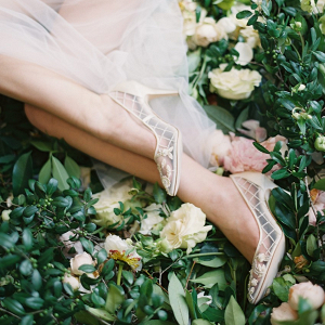 Ivory Floral Beaded Bridal Shoes