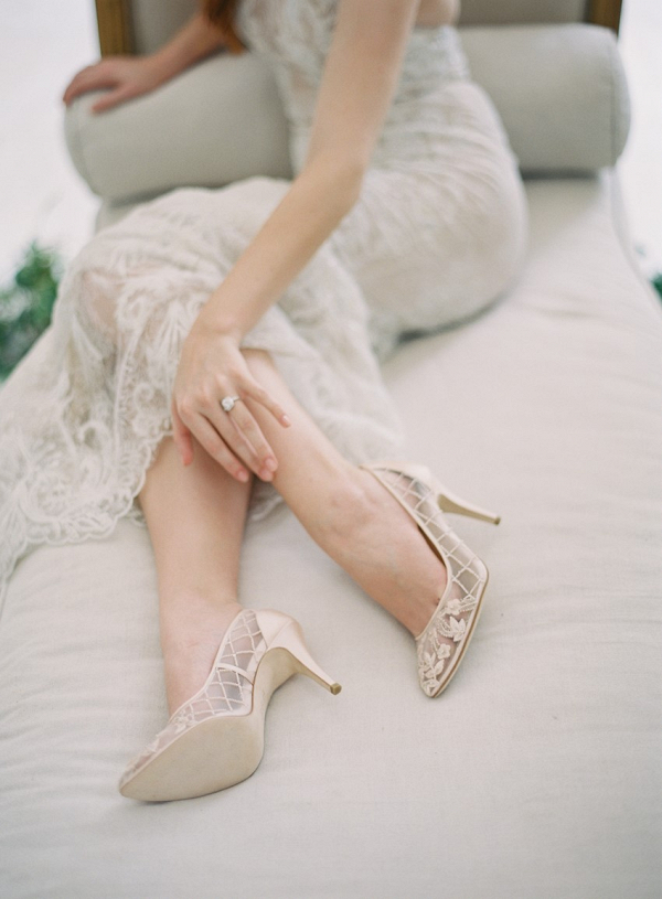 Floral Beaded Bridal Shoes