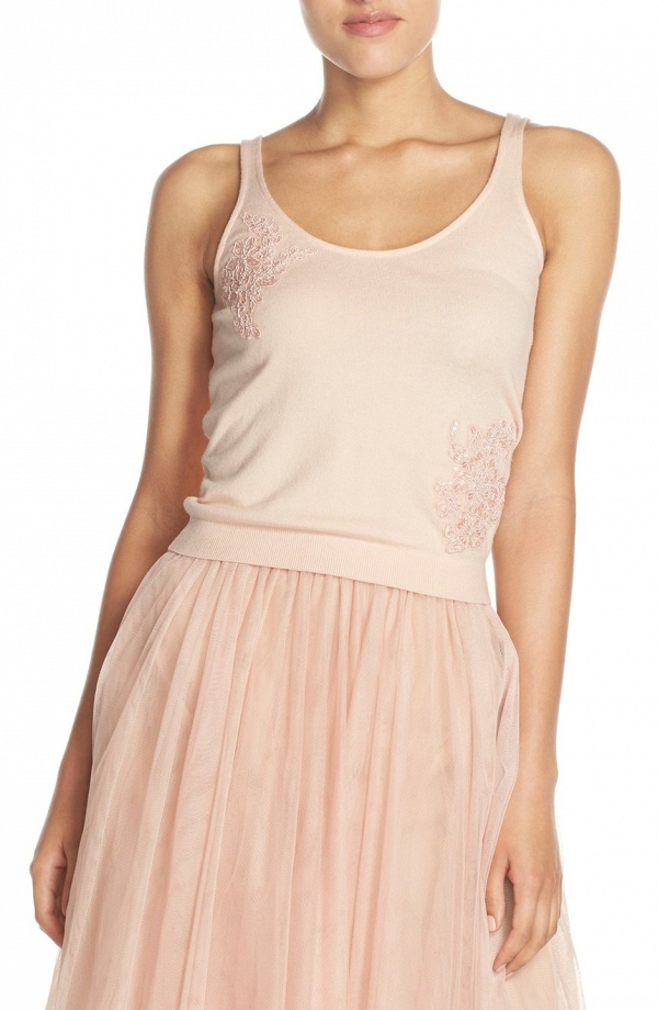 'Cora' Lace Detail Bridesmaids Tank