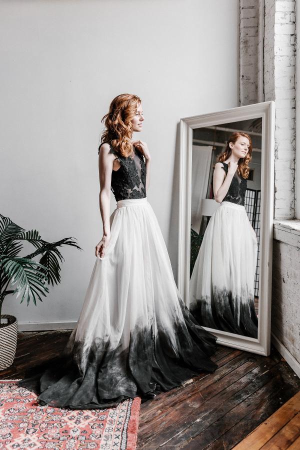 'Cordelia' Dip Dyed Skirt