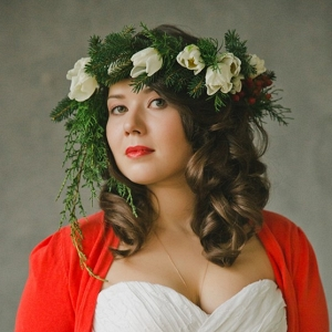 Holiday Bride and White Flower Crown
