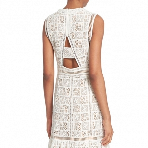 Crochet Lace Sleeveless Dress Back Detail
