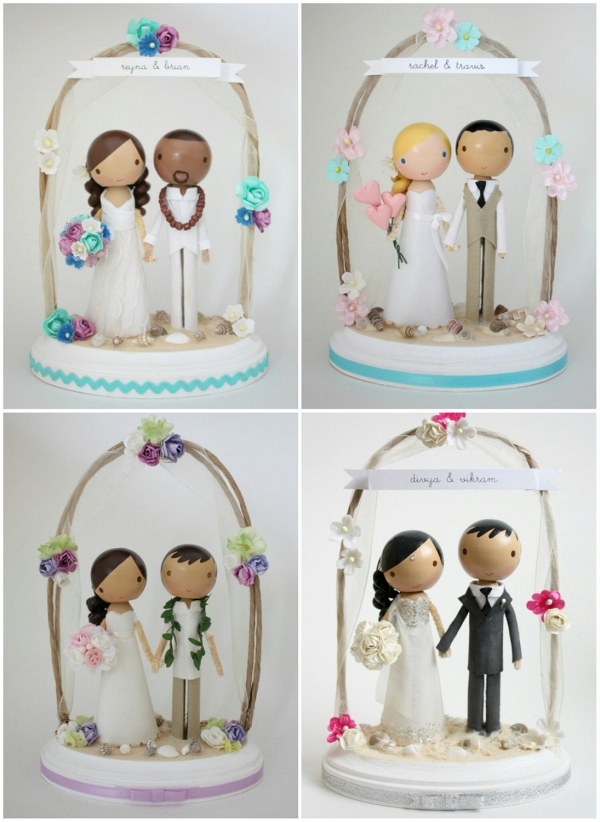 Customisbale Beach Wedding Cake Toppers