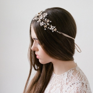 Delphine Crystal Headpiece by Bride La Boheme Photography - Lana Ivanova