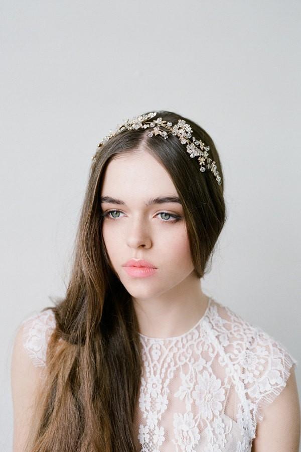 Delphine - Gold Crystal Headpiece by Bride La Boheme Photography - Lana Ivanova