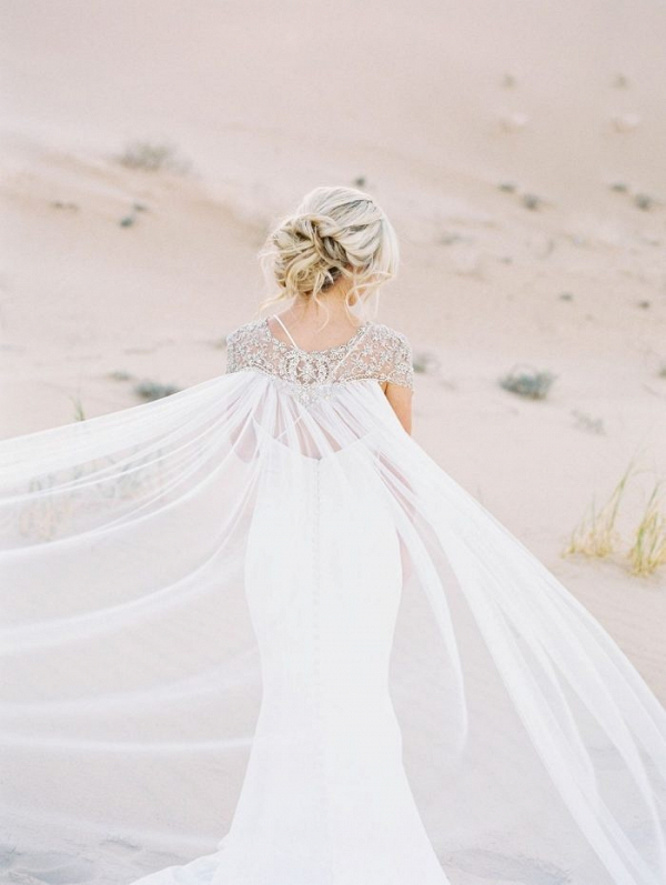 Embellished wedding cape
