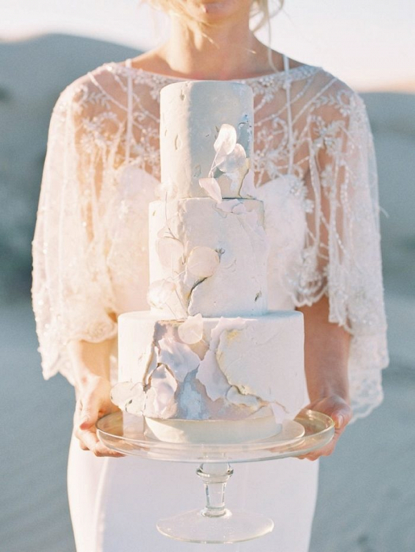 Cement texture wedding cake