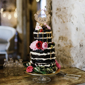 Naked Drizzle Chocolate Wedding Cake