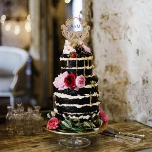 Naked Drizzle Chocolate Wedding Cake