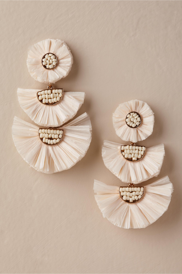 Raffia Chandelier Earrings