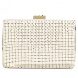 'Diamond Drips' Bridal Box Clutch