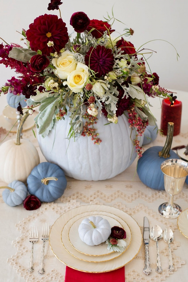 Diy Painted Pumpkin Fall Table Centerpieces Aisle Society