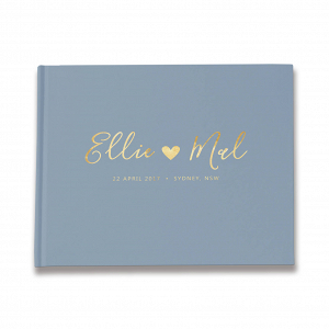 Dusty Blue Wedding Guestbook