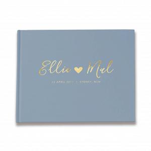 Dusty Blue Wedding Guestbook