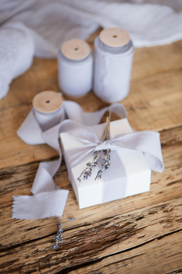 Dusty Lavender Cotton Bouquet Ribbon