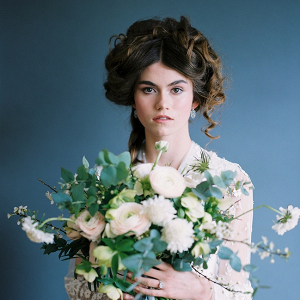Edwardian bridal hair