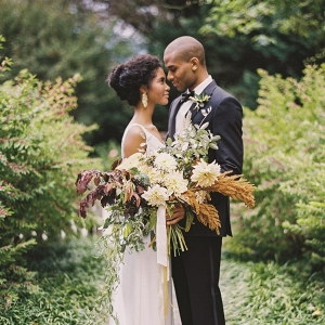 Romantic Modern Vintage Autumn Wedding