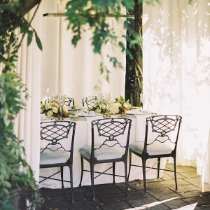 Elegant Autumn Outdoor But Under Cover Wedding Reception