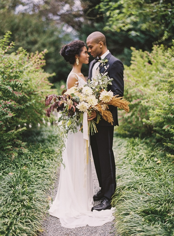 Romantic Modern Vintage Autumn Wedding