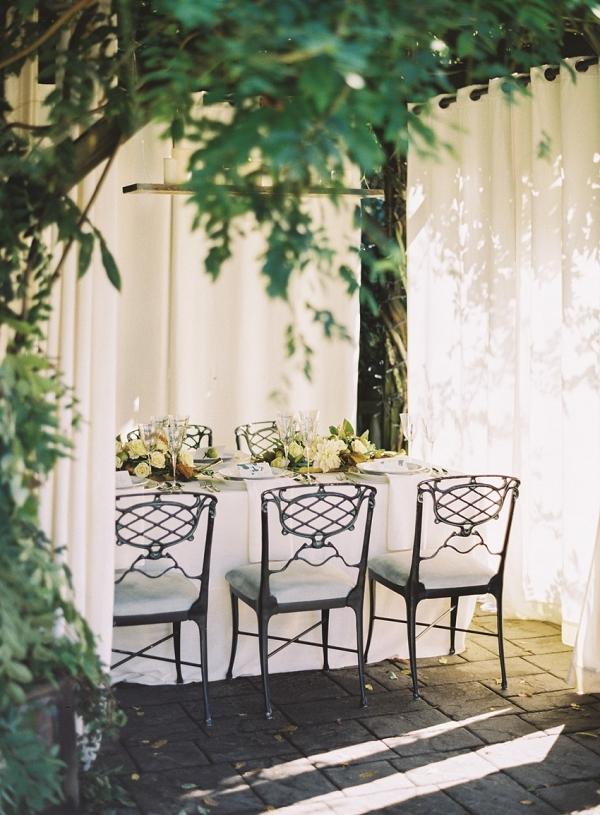 Elegant Autumn Outdoor But Under Cover Wedding Reception