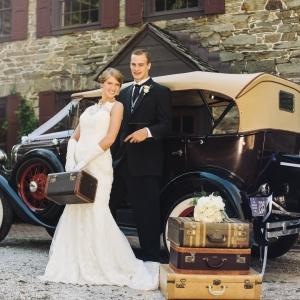Vintage Wedding Car. Photography ~ Kimberly Brooke Photography