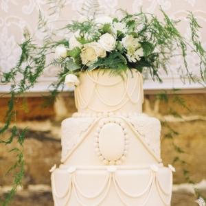 Downton Abbey Inspired Vintage Wedding Cake. Photography ~ Kimberly Brooke Photography