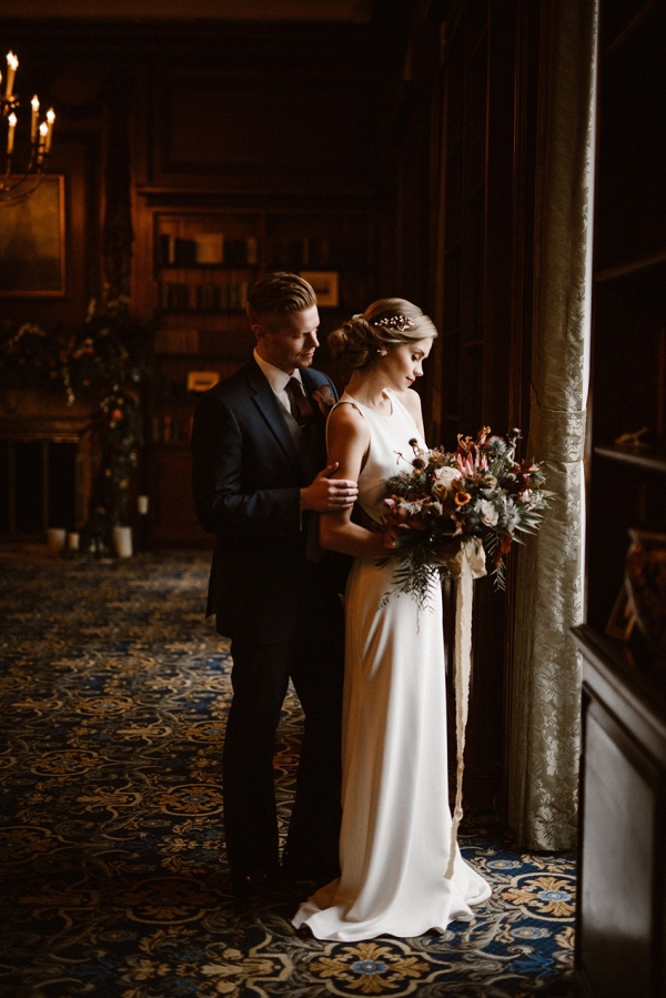 Elegant Winter Wedding Inspiration at Hampshire House