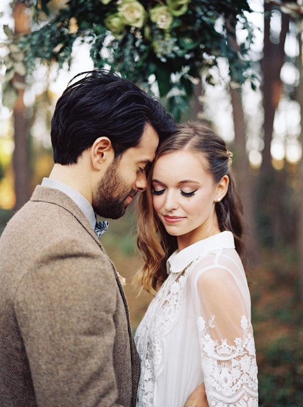 Rustic Vintage Bride & Groom for a Woodland Wedding